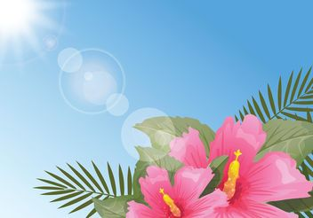 Free Stylish Polynesian Flowers Background - Free vector #157567