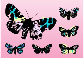 Pop Art Butterflies - Free vector #157607