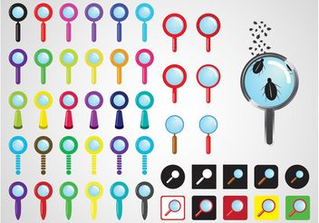 Magnifying Glasses Vectors - Free vector #157617