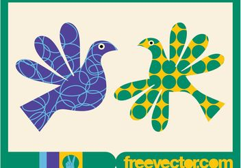 Colorful Birds - vector gratuit #157647