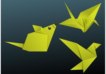 Origami Animals - vector #157667 gratis