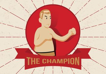 Old Time Boxing Vector Man - vector gratuit #158077