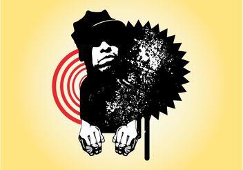 Grunge Man Portrait - Free vector #158107
