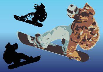 Snowboard Vector Art - Free vector #158227