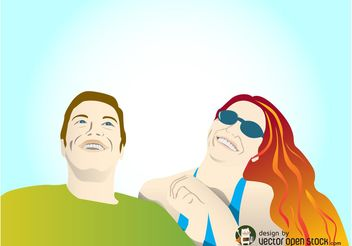 Happy Couple Vector - vector gratuit #158247