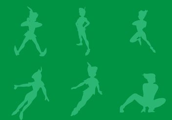 Free Vector Peter Pan Silhouettes - Kostenloses vector #158287