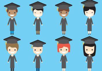 Graduate Vector Characters - vector #158337 gratis