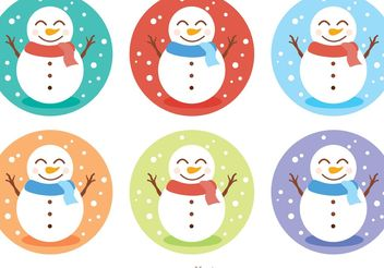 Snowman Icon Vectors Pack - бесплатный vector #158457