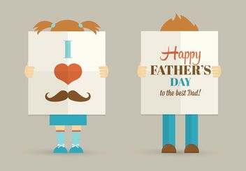 Free Father's Day Vector Poster - Free vector #158497