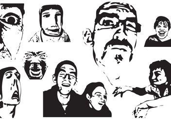Weird Faces - Free vector #158507