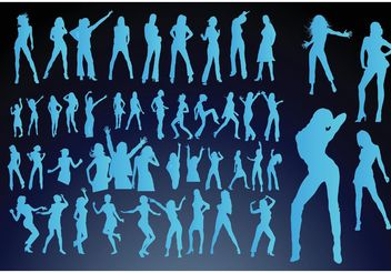 Dancing Girls - vector gratuit #158537
