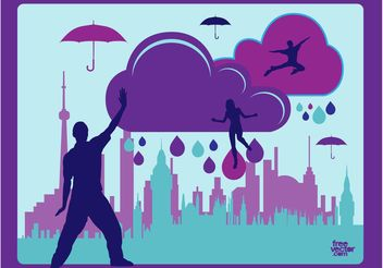 Rainy Day Vector - Free vector #158607