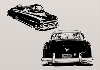 Vintage Cars - Free vector #158637
