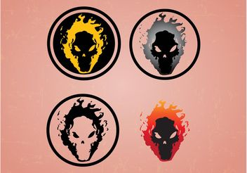 Skulls On Fire - Free vector #158667