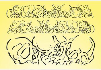 Skulls Vector Banner - vector #158677 gratis