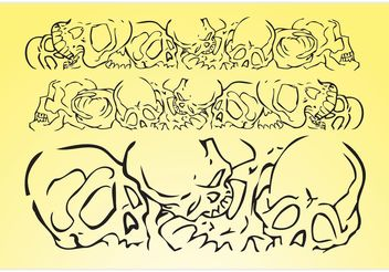 Skulls Vector Banner - Free vector #158677