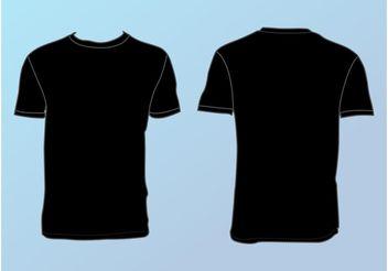 Basic T-Shirt Template - Kostenloses vector #158717