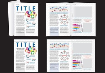 Science Magazine Layout - vector #158737 gratis