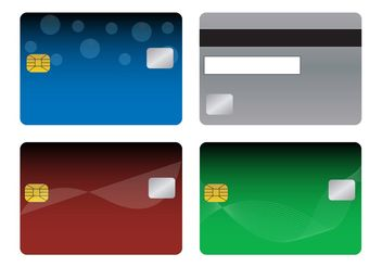Bank Cards Templates - vector gratuit #158777