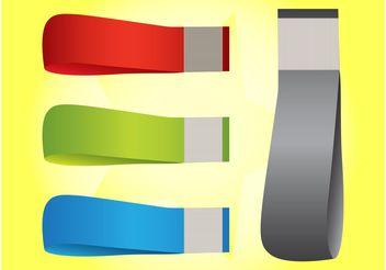 Curved Banners - Free vector #158927