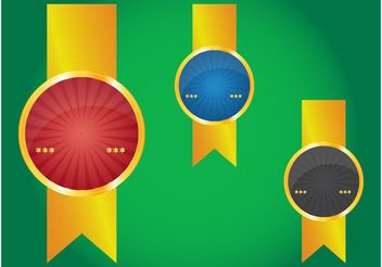 Golden Badges - vector gratuit #158997