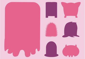 Monsters Silhouettes - Free vector #159057