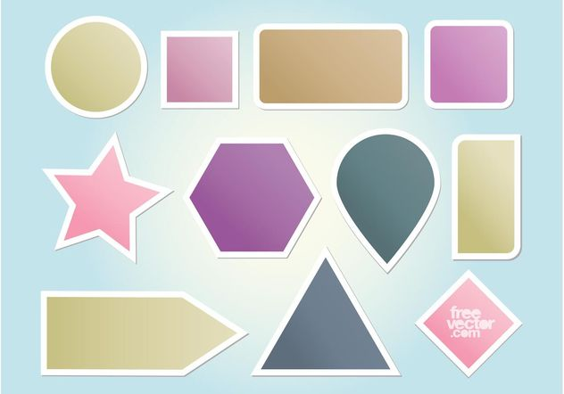 Vector Shapes - Free vector #159087