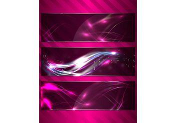 Cosmic Banner Pack - Kostenloses vector #159247