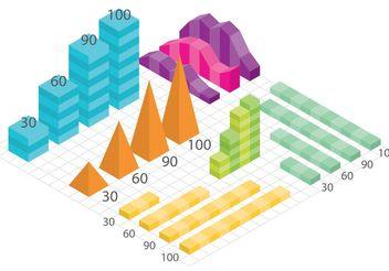 Isometric Vector Charts - Free vector #159427