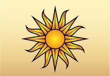 Sun Vector Graphic - Kostenloses vector #159737