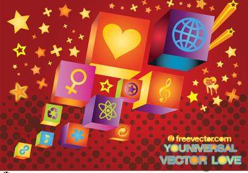 Universal Love - Free vector #159767