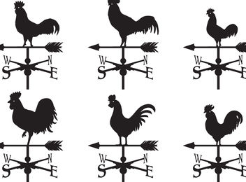 Weather Vane Vectors - Free vector #159777
