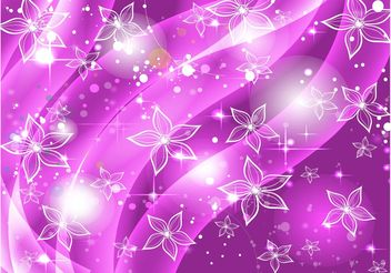 Purple Flowers Stars Background - vector #159807 gratis