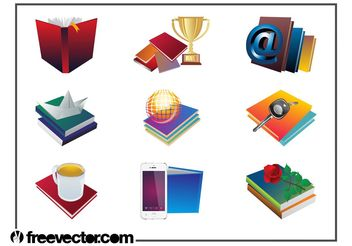 Books Layouts - бесплатный vector #159867