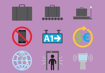 Airport Vector Icons - Free vector #159877