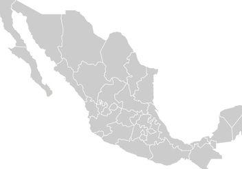 Mapa Mexico Vector - Free vector #159887