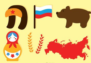 Flat Russian Vector Icons - Free vector #159977