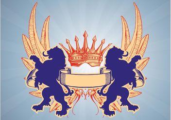 Heraldry Lions - Free vector #159997