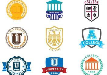 University Logo Vectors - vector #160047 gratis