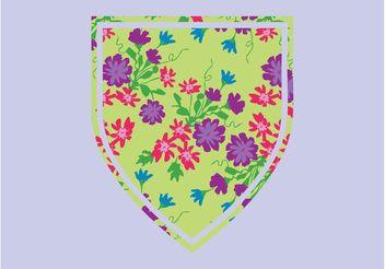 Floral Shield Vector - Kostenloses vector #160087