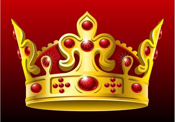 Vector Golden Crown - vector gratuit #160227