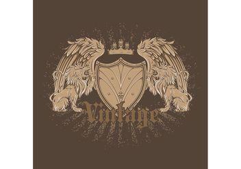 Free vector vintage emblem - Kostenloses vector #160277