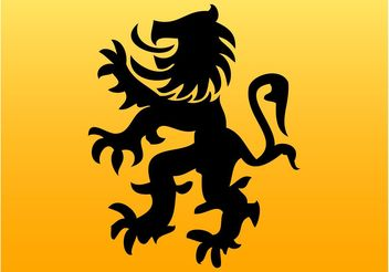 Lion Silhouette Vector - Free vector #160297