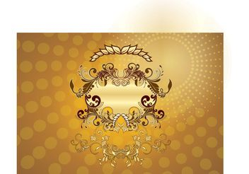 Gold Decoration - Free vector #160447