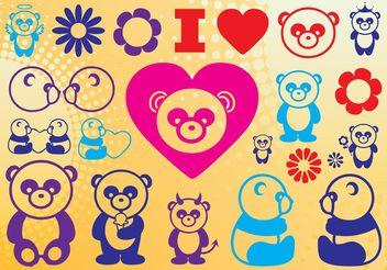 Panda Love - Free vector #160457