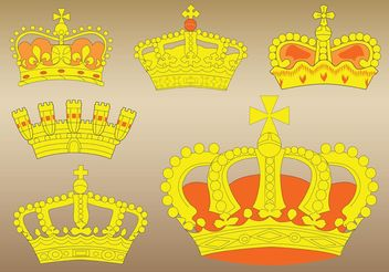 Crown Vectors - vector gratuit #160467