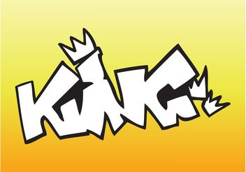 King Graffiti Piece - vector #160527 gratis