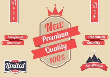 Free Red Vector Label Set - Free vector #160557