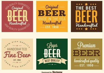 Beer Labels - vector #160607 gratis