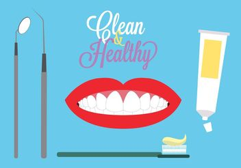 Dental theme background - vector gratuit #160617